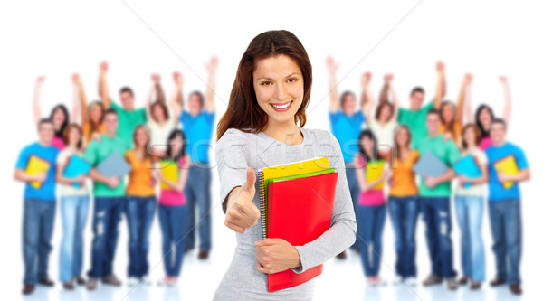 Group of students. Stock photo © Kurhan