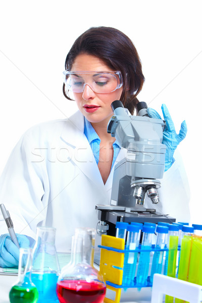 Laboratorium onderzoek wetenschappelijk vrouwen gezondheidszorg vrouw Stockfoto © Kurhan