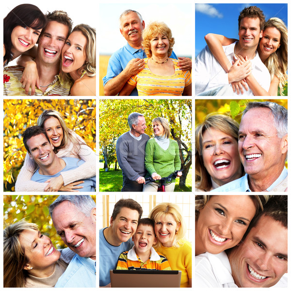 Group of happy people collage. Stock photo © Kurhan