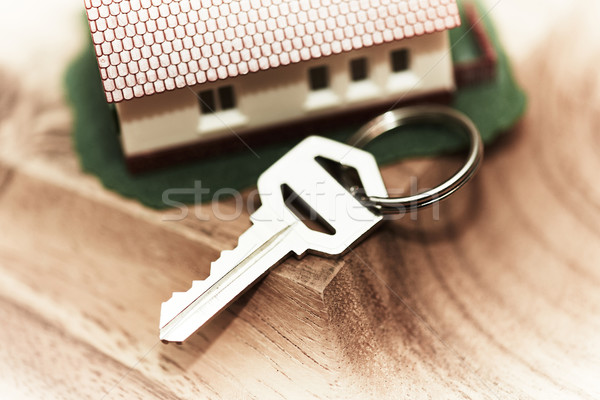 Family house and key. Stock photo © Kurhan