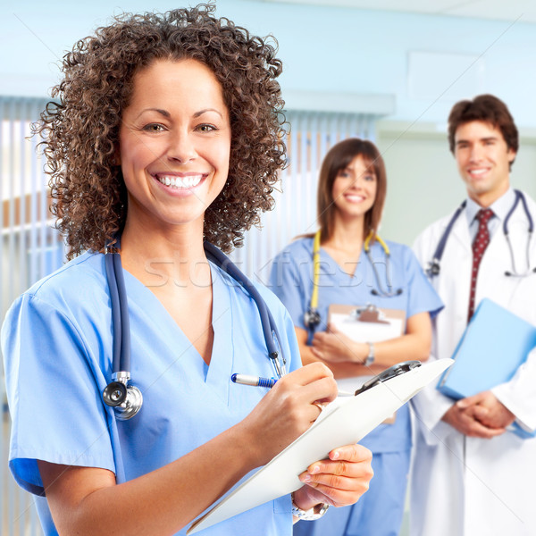 doctor and nurses Stock photo © Kurhan