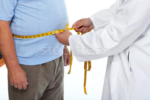 Orvos mér elhízott férfi gyomor derék Stock fotó © Kurhan