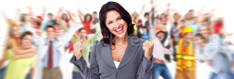Happy business woman. Stock photo © Kurhan