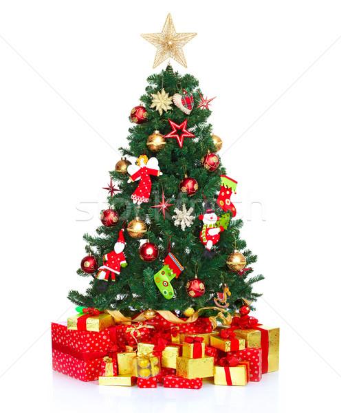 árvore de natal isolado branco apresentar natal objeto Foto stock © Kurhan