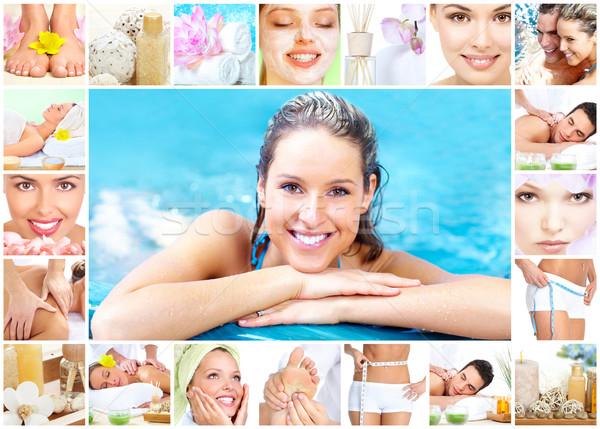 Spa massage collage background. Stock photo © Kurhan