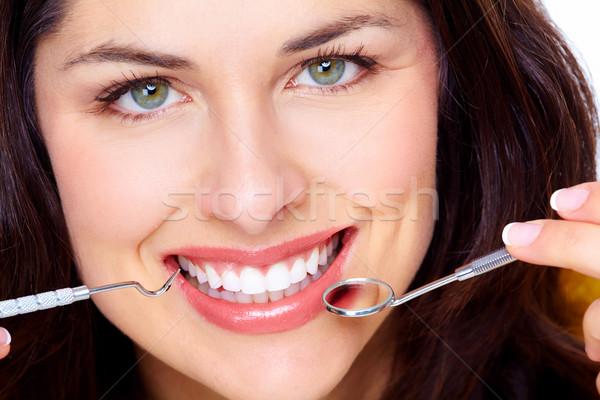 Beautiful woman smile. Stock photo © Kurhan