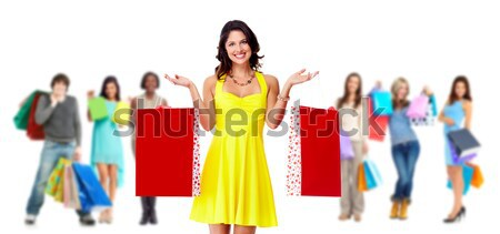 Happy shopping people Stock photo © Kurhan