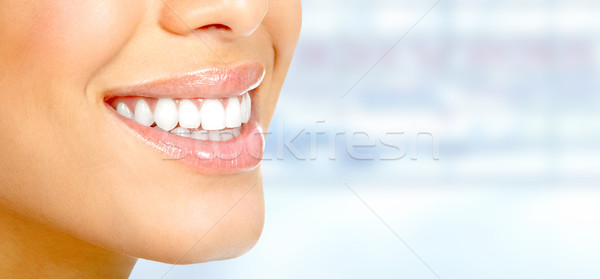 Woman smile. Stock photo © Kurhan
