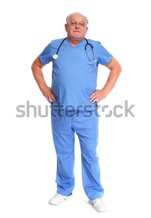 Elderly hospital doctor. Stock photo © Kurhan