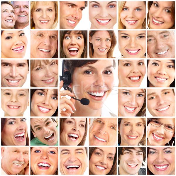Visages souriant personnes dents soins sourire Photo stock © Kurhan