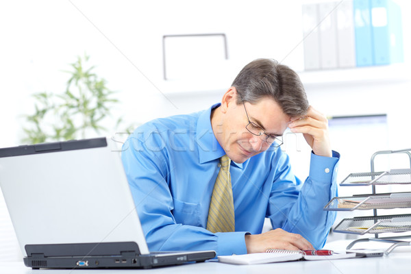 Stock photo: businessman  having stress