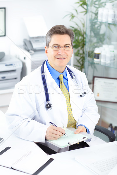 Foto d'archivio: Medico · medici · lavoro · ufficio · business · felice