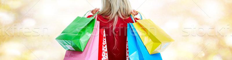 Woman with shopping bags. Stock photo © Kurhan