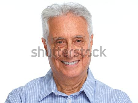 Happy smiling elderly man portrait. Stock photo © Kurhan