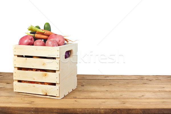 Vegetables box Stock photo © Kurhan