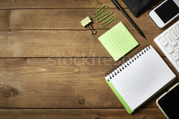 Business desk table. Stock photo © Kurhan