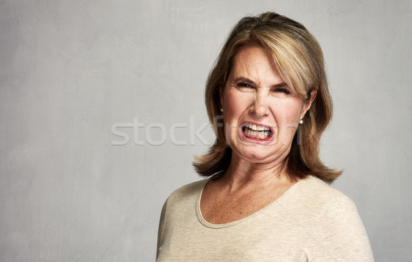 Angry woman Stock photo © Kurhan