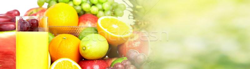 Sinaasappelsap vruchten glas vers tabel gezonde voeding Stockfoto © Kurhan