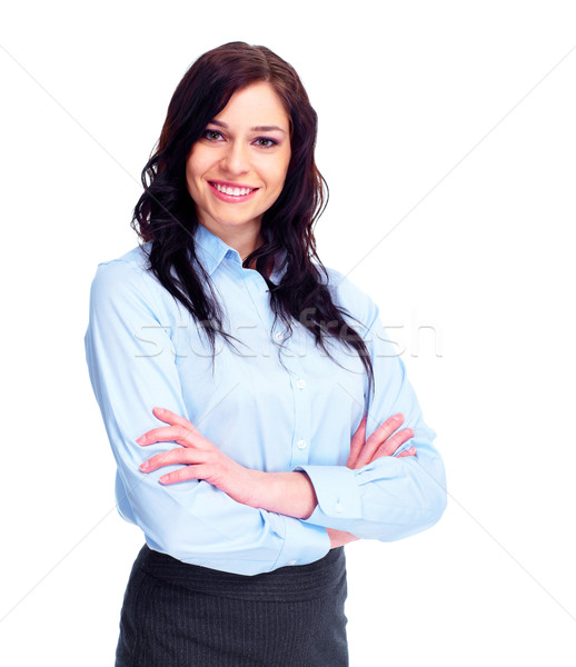 Stock photo: Young business woman.