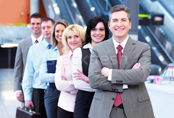 Photo stock: Gens · d'affaires · groupe · modernes · urbaine · salle · affaires