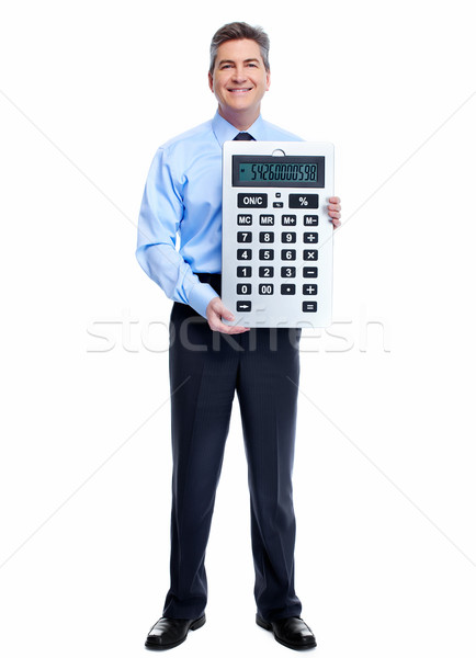 Accountant Businessman with calculator. Stock photo © Kurhan