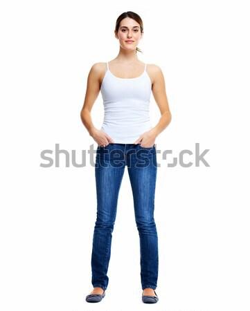 Standing woman. Stock photo © Kurhan