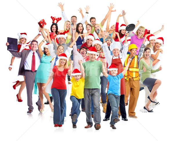 Happy Christmas people group. Stock photo © Kurhan