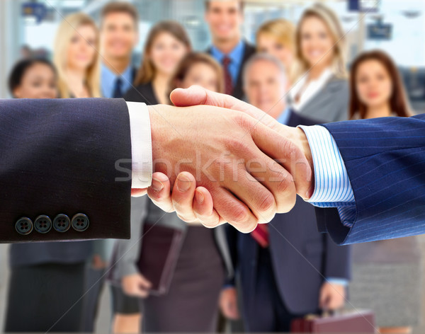 Photo stock: Affaires · handshake · gens · d'affaires · femme · bureau · homme