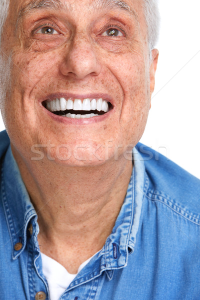 Stock photo: Happy senior man.