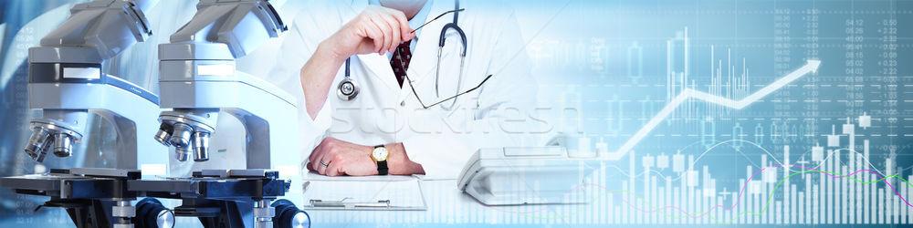 Farmaceutisch laboratorium onderzoek gezondheidszorg medische Stockfoto © Kurhan