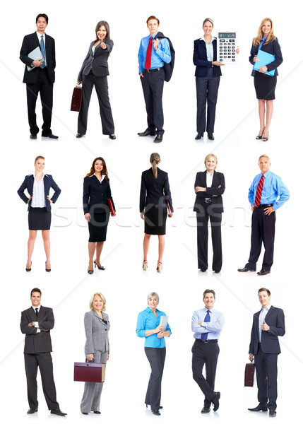 Gente de negocios sonriendo aislado blanco negocios Foto stock © Kurhan