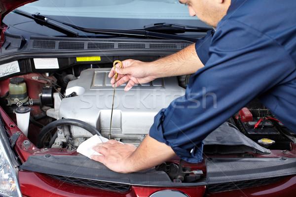 Auto Reparatur Hände Mechaniker arbeiten Laden Stock foto © Kurhan