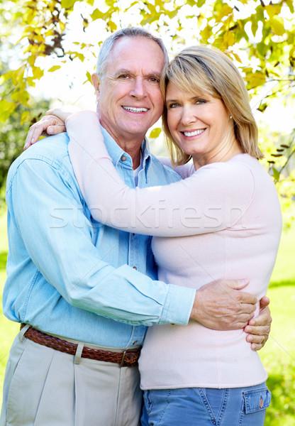 Feliz idoso casal casal de idosos amor parque Foto stock © Kurhan