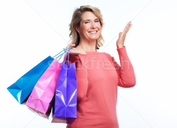 Senior woman with shopping bags. Stock photo © Kurhan