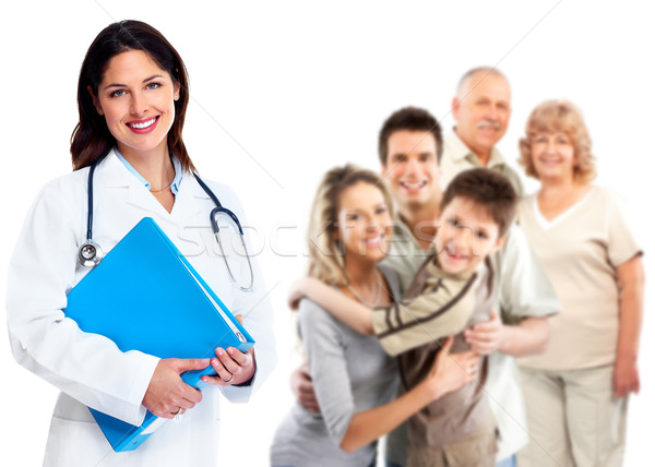 Family Doctor woman. Health care. Stock photo © Kurhan