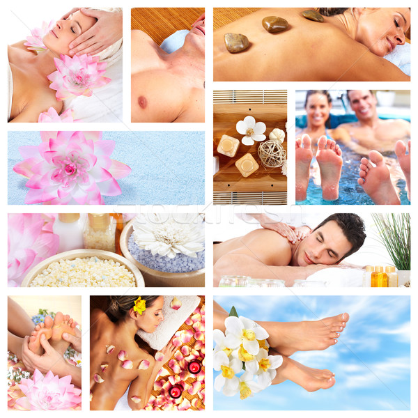 Beautiful Spa massage collage. Stock photo © Kurhan