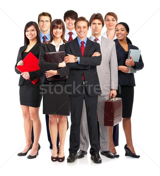 Zakenlieden groep jonge glimlachend witte kantoor Stockfoto © Kurhan