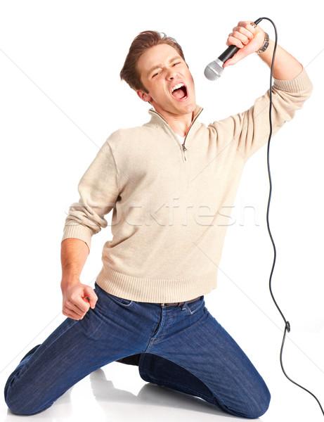 Happy karaoke signer Stock photo © Kurhan