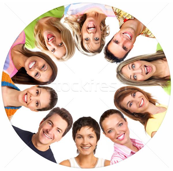 счастливые люди счастливым улыбаясь люди белый семьи Сток-фото © Kurhan