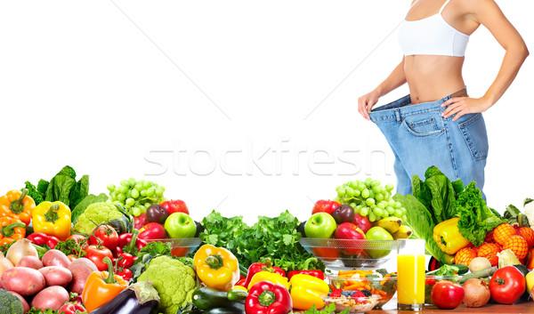 Woman losing weight. Stock photo © Kurhan
