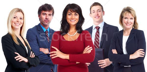 Equipe de negócios grupo jovem pessoas de negócios isolado branco Foto stock © Kurhan