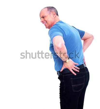 Senior man with a back pain. Stock photo © Kurhan