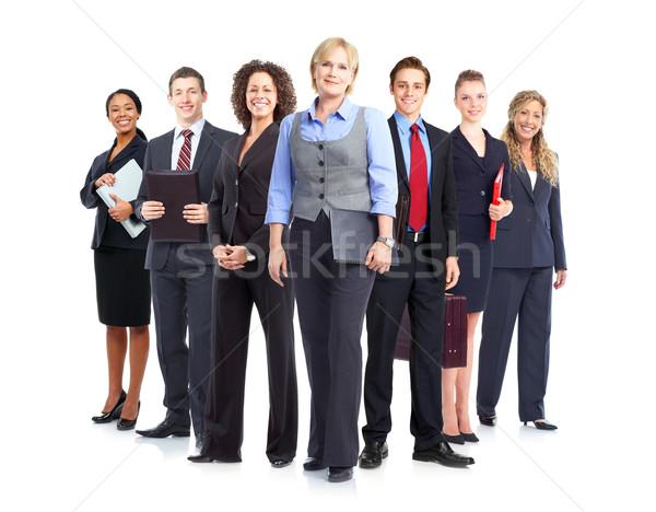 üzletemberek csapat nagyobb csoport mosolyog csapatmunka üzlet Stock fotó © Kurhan