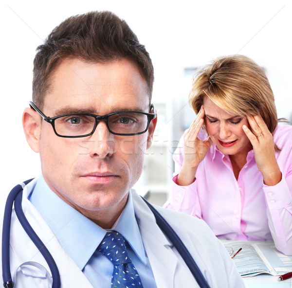 Doctor psychiatrist and patient. Stock photo © Kurhan