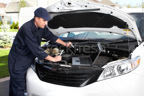 Stok fotoğraf: Profesyonel · araba · mekanik · çalışma · oto