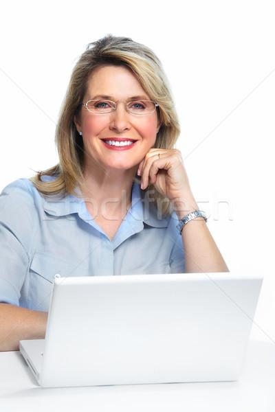 Business woman with laptop. Stock photo © Kurhan