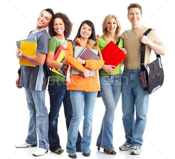 Studenten lächelnd weiß Mann Studenten Stock foto © Kurhan