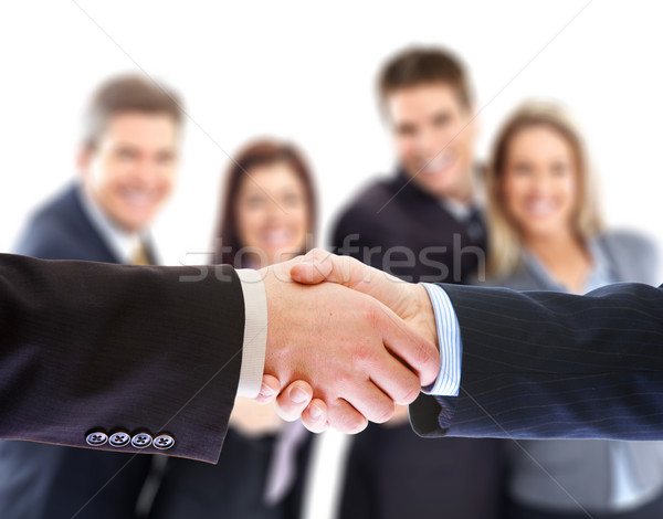 business handshake Stock photo © Kurhan