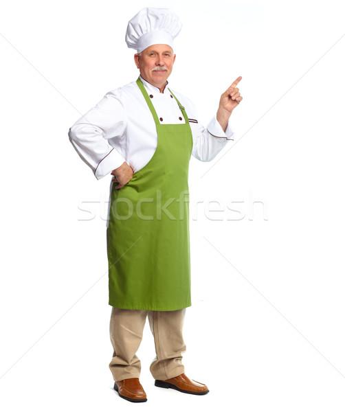 Chef inviting in restaurant. Stock photo © Kurhan
