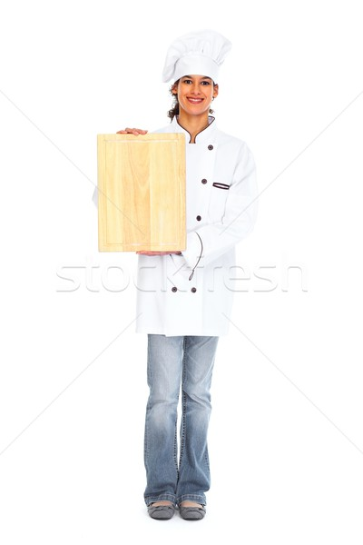 Young chef woman Stock photo © Kurhan